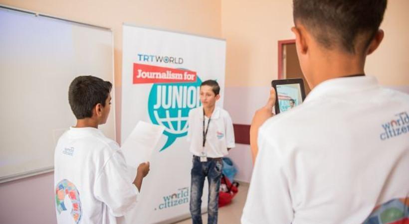 TRT World'den Suriyeli çocuklara gazetecilik eğitimi!