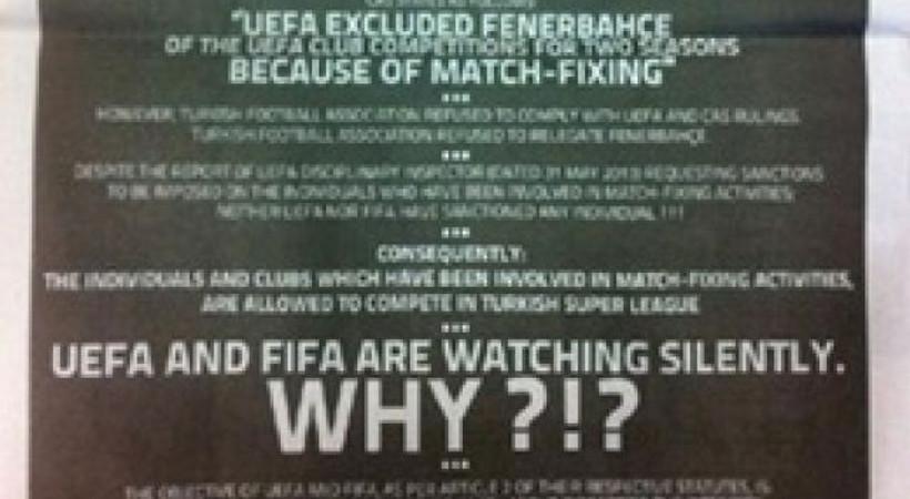 İngiliz gazetesinde şike ilanı! UEFA ve FIFA'yı göreve çağırdılar