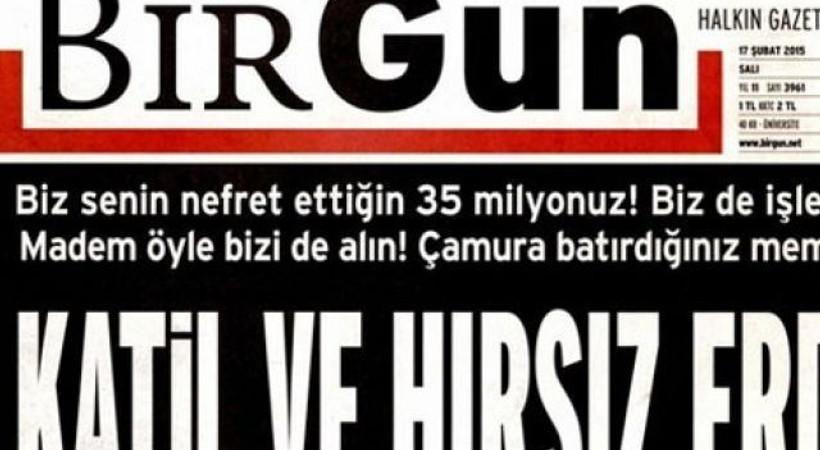 'Katil ve Hırsız Erdoğan' manşetine suç duyurusu!