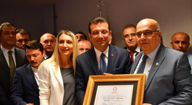 İBB Başkanı Ekrem İmamoğlu mazbatasını aldı!