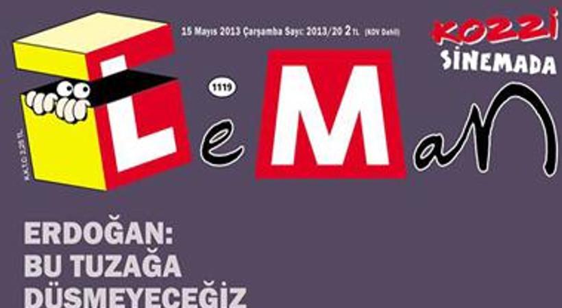Bu kapak çok konuşulur! Leman, kapana kısılmış Erdoğan'ı çizdi!