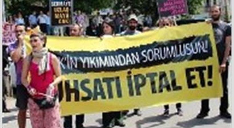 Emek eylemcileri belediyeye alınmadı!