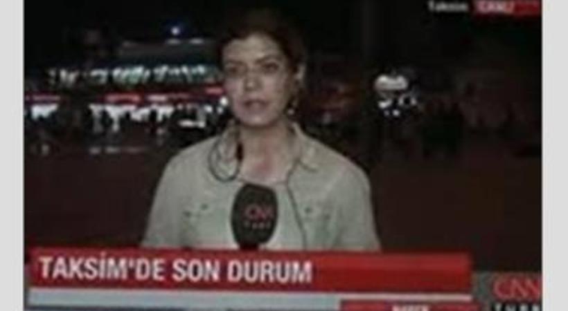 CNN Türk muhabiri polise böyle isyan etti.