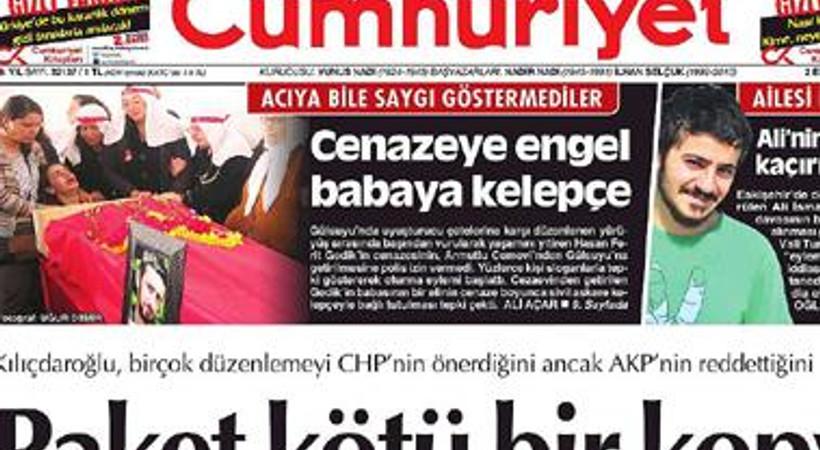 Cumhuriyet'tin manşetini penguenler bastı!