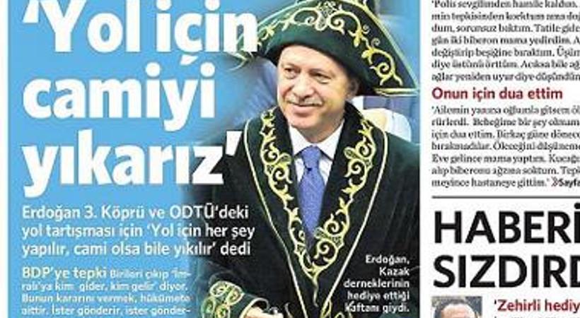 Erdoğan'ın 'Gerekirse cami yıkarız' sözleri manşetlerde yankılandı!