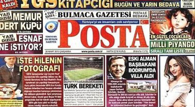 Günün manşetini Posta attı: 461 yıl sonra Türkiye yasta