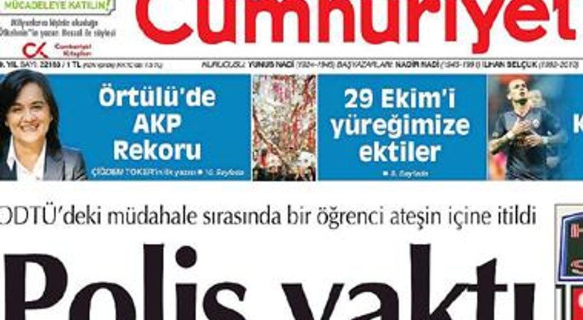 'Helal seks shop' Cumhuriyet'in manşetinde karikatür oldu!