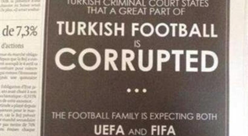 İsviçre'nin önde gelen gazetesine 'şike' ilanı!
