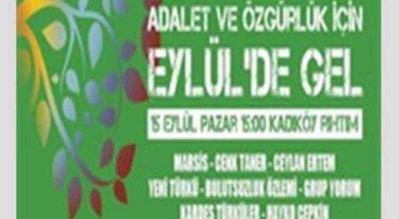Kadıköy'de on binler 'barış'ı haykırıyor