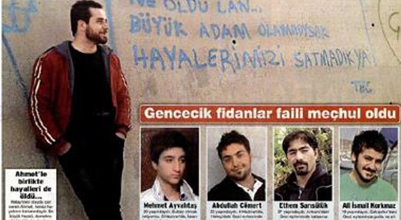 Kimi düştü dedi, kimi polis vurdu dedi. Ahmet Atakan'ın ölümü gazete manşetlerine böyle yansıdı
