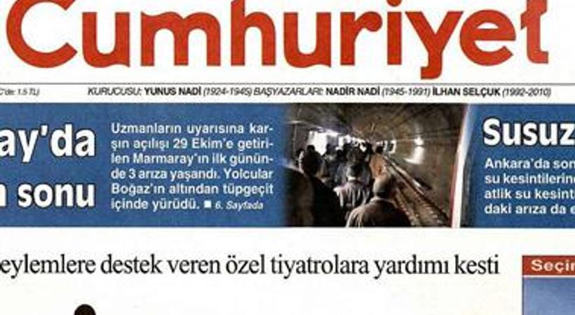 'Seçim show başladı' Cumhuriyet'in karikatürü Başbakan Erdoğan'ı çok kızdıracak!