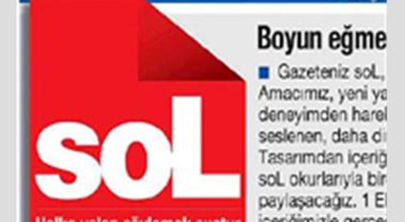 soL gazetesi bugünkü manşetine 'Kurtlar Vadisi'ni taşıdı