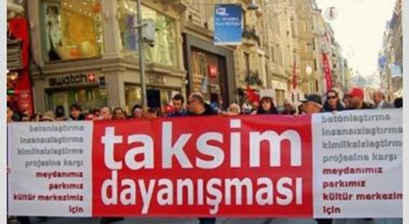 Taksim Dayanışması: Gitmiyoruz, 19.00'da Taksim'de eyleme...