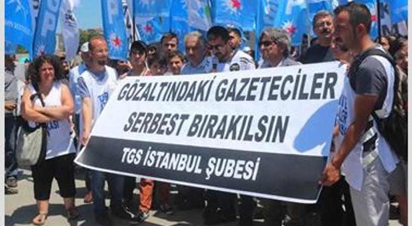 Türkiye Gazeteciler Sendikası: Gözaltındaki gazetecilere özgürlük!
