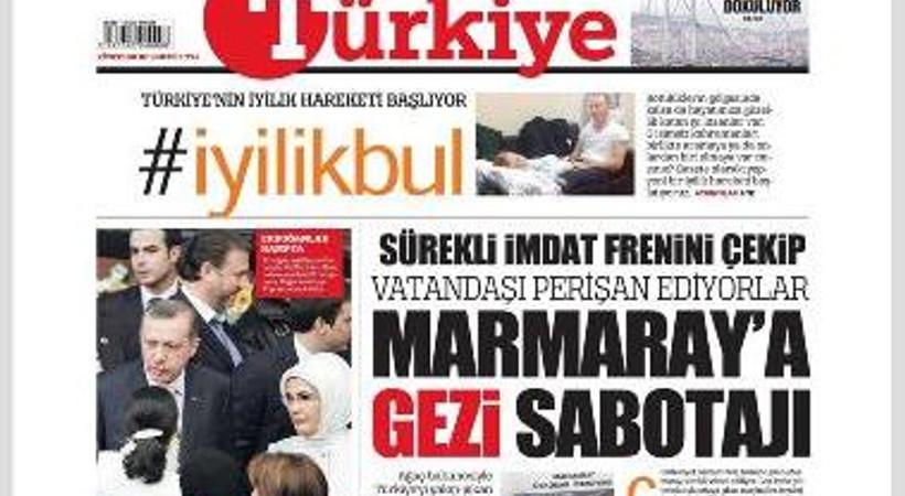 Türkiye gazetesine kendi yazarından 'Gezi' eleştirisi!