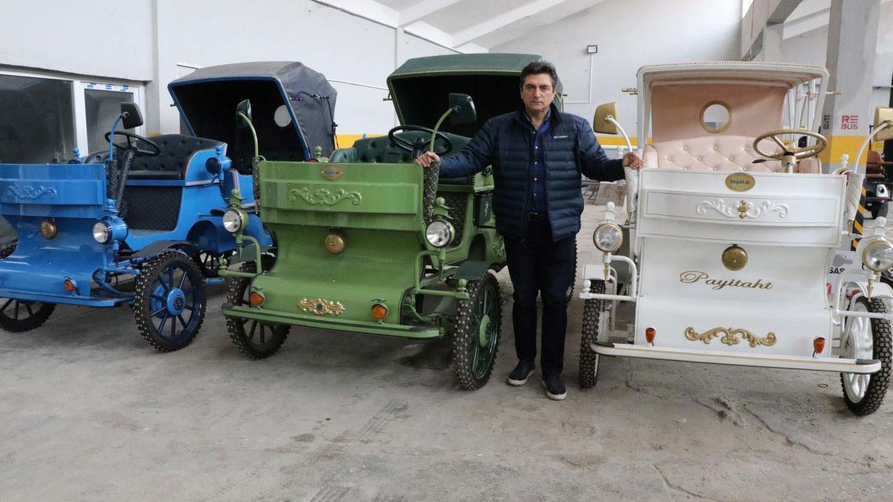 Denizli'de üretilen elektrikli faytonlar İstanbul'da kullanılacak