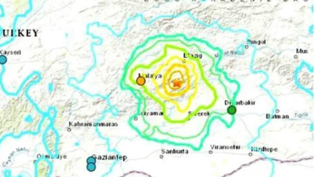 Amerikan Jeolojik Araştırma Merkezi paylaştı... Türkiye'yi sarsan deprem sonrası korkutan harita!