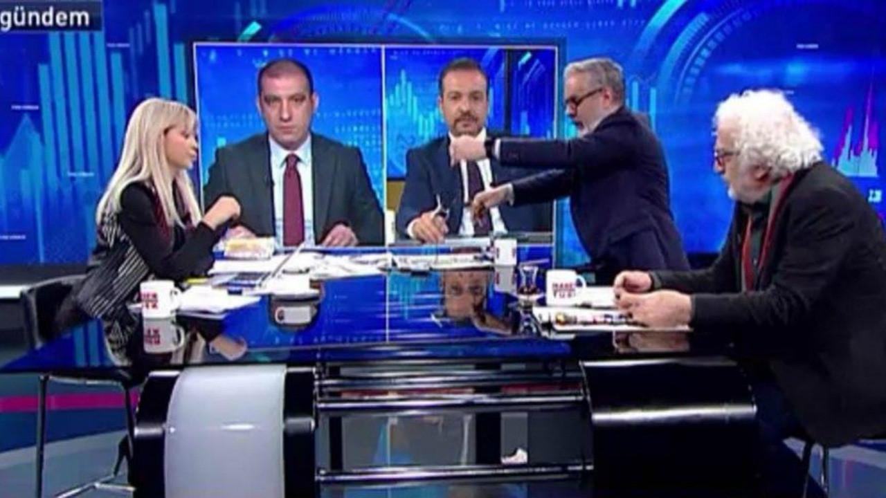 Habertürk TV'de canlı yayını terk etti! 'Arkadaş bize ayar çekecek böyle bir şey var mı?'