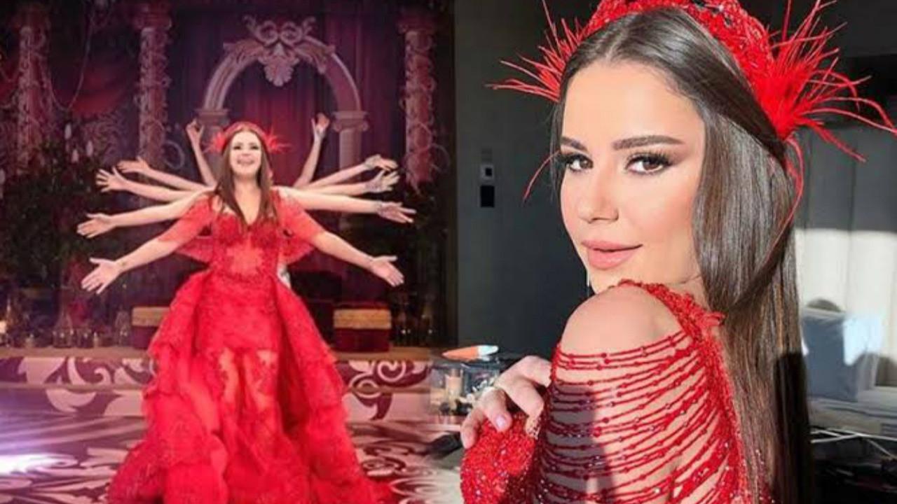 Merve Özbey'in 'Kına dansı' performansı!