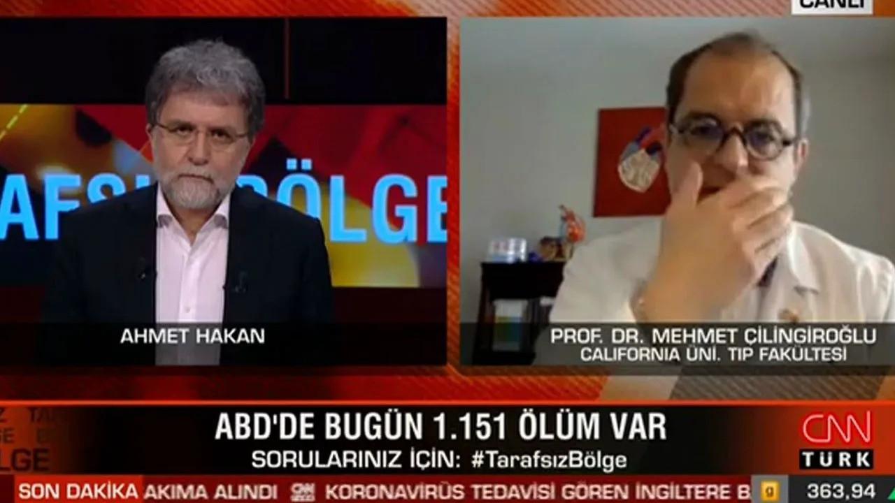 Canlı yayında şarkıya başladı, Ahmet Hakan şaşırdı