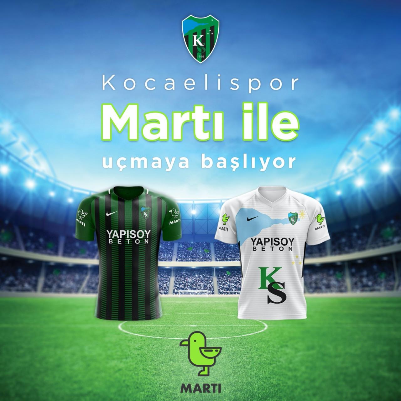 Martı, Kocaelispor'un forma kol sponsoru oldu!