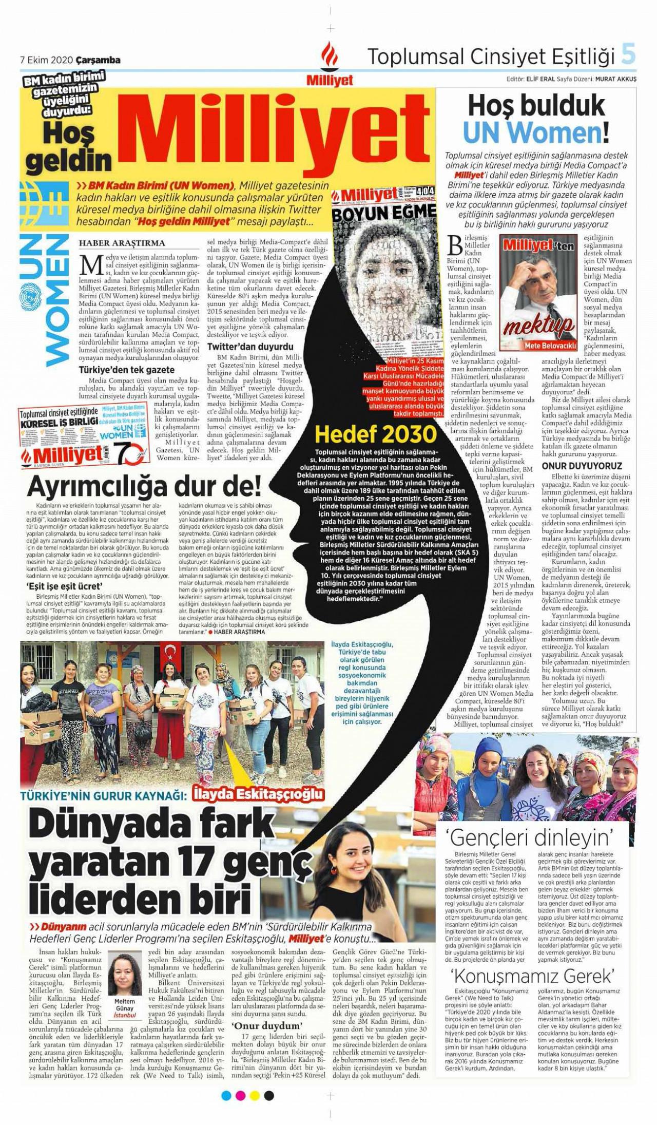 Milliyet Gazetesi, BM Küresel Medya Birliği 'Media Compact'e dahil oldu!