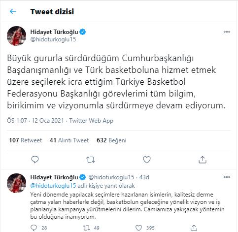 Hidayet Türkoğlu'ndan göreven alındığı iddiasına yanıt: 'Büyük gururla sürdürdüğüm...'