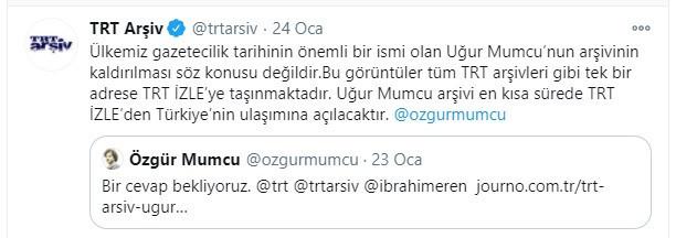 TRT'den Uğur Mumcu iddiasına cevap