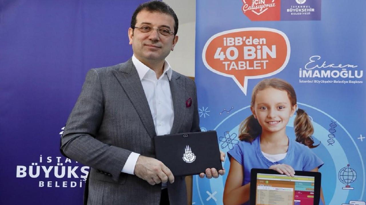 Ekrem İmamoğlu, tablet dağıtımını başlattı