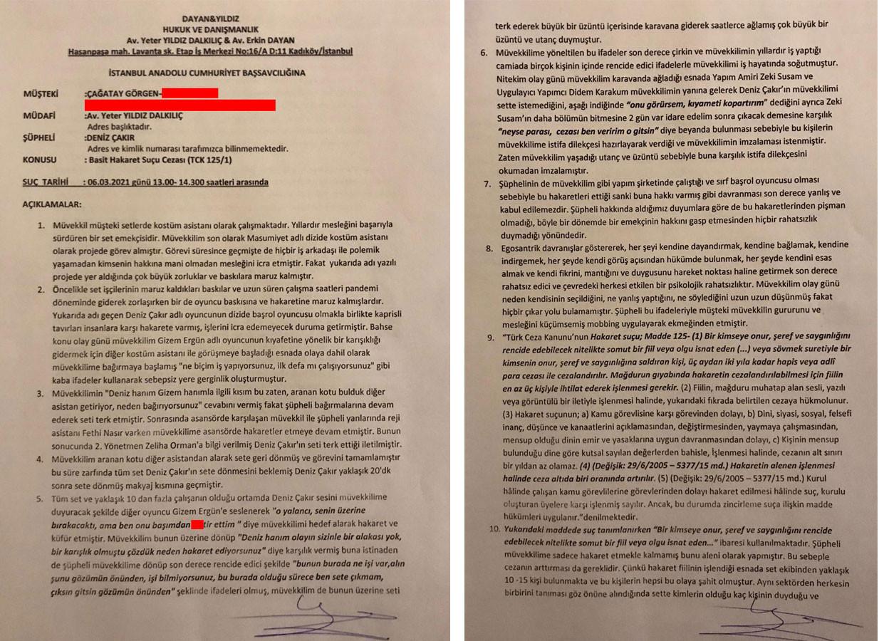 Deniz Çakır'a 'hakaret ve mobbing' suçlaması!