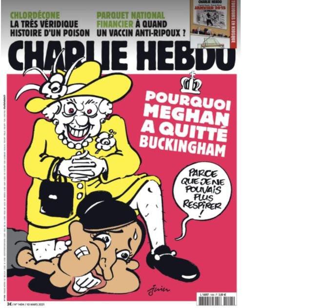 Charlie Hebdo'dan tepki çeken Meghan Markle kapağı