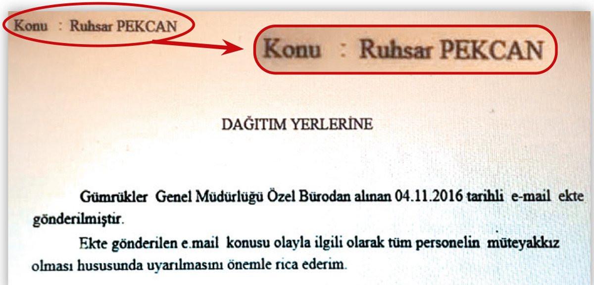 Pekcan, bürokratlara gönderilen 'Ruhsar Pekcan hakkında müteyakkız olunması' mailinden 20 ay sonra Bakan olmuş!