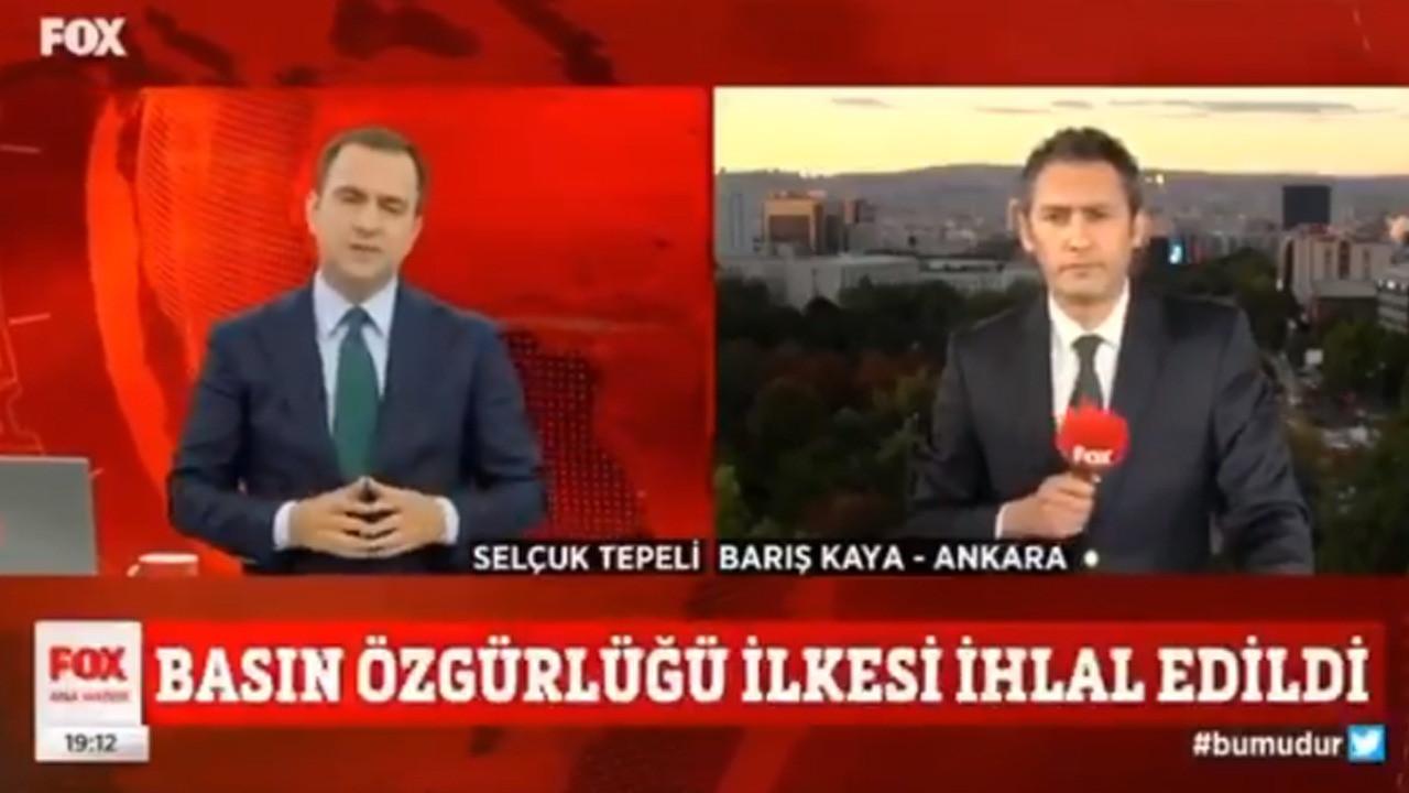 FOX TV muhabiri Barış Kaya: Ömer Çelik'in basın toplantısına alınmadım