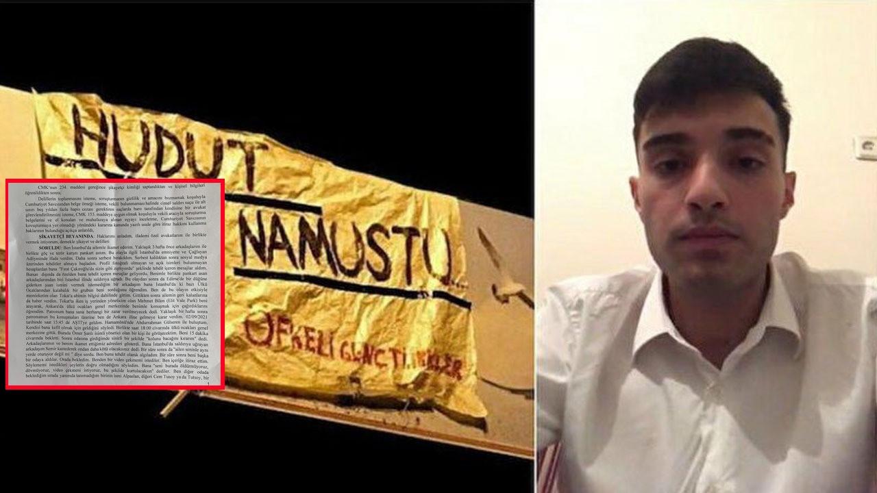 'Hudut namustu' ile gündeme gelen Ahmet Çakmak'ın ifadesi ortaya çıktı: Ülkü Ocakları Genel Merkezi'nde tehdit edildim