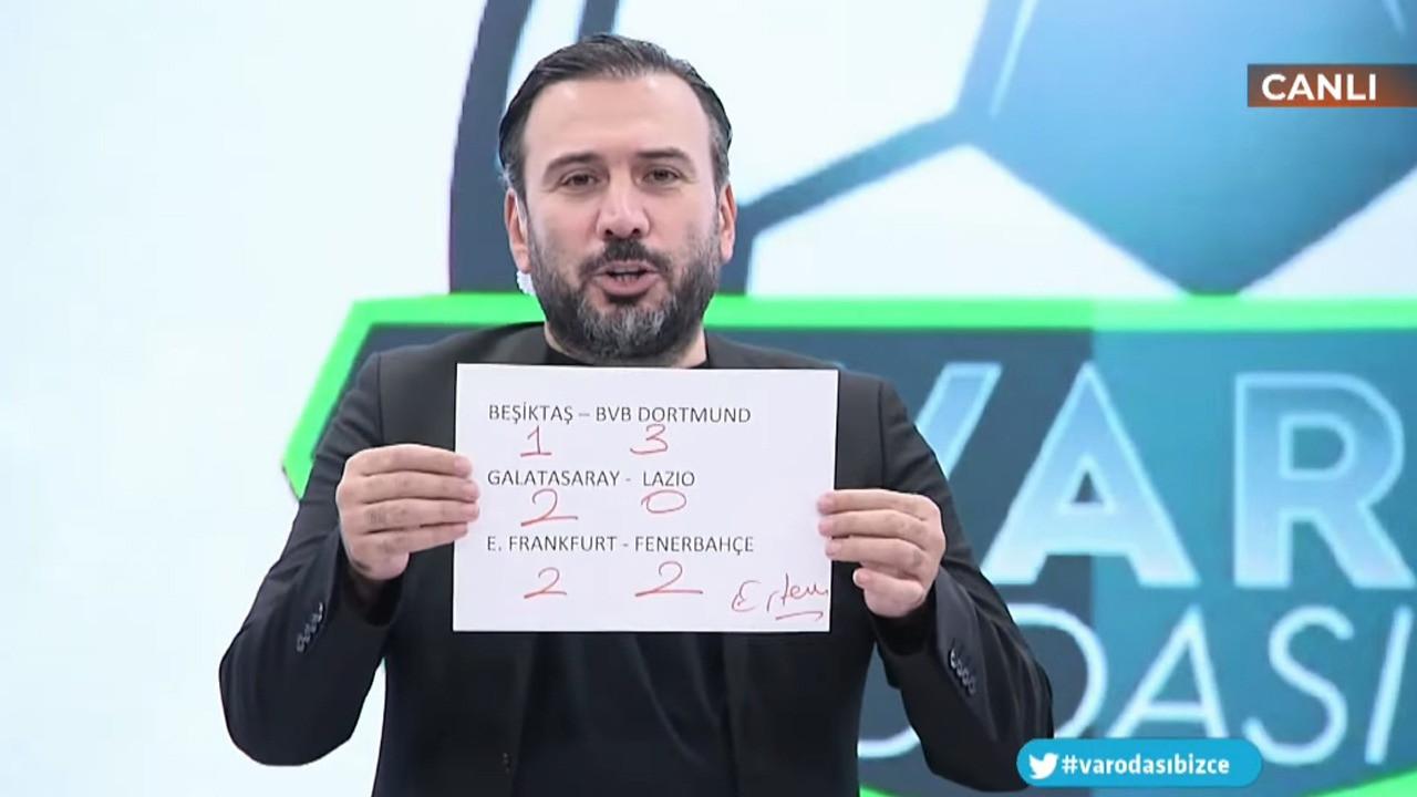 Ertem Şener'in Beşiktaş tahmini taraftarı kızdırdı